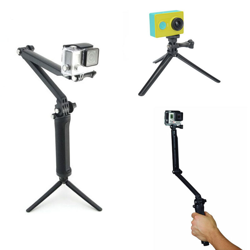 Gopro Accessories 3-way Grip Arm Selfie Tripod Monopod Mount For Go Pro Hero 4