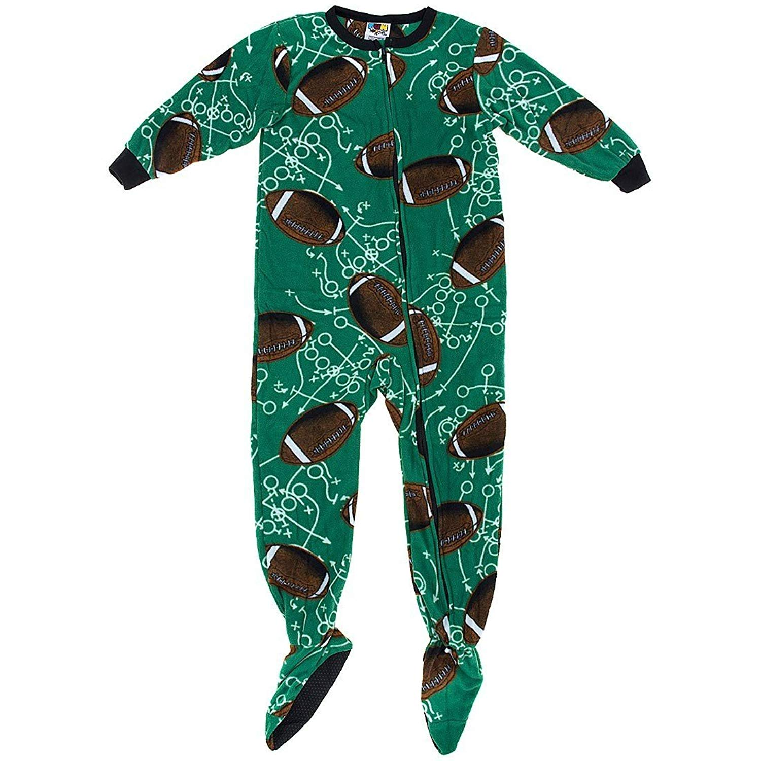 Get Quotations · Fun Footies Football Plays Footie Pajamas for Little Boys  5f7ded286