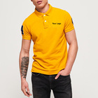 Clothing Mens Wholesale Cheap Short Sleeve Embroidery Yellow Cotton Polo Shirt