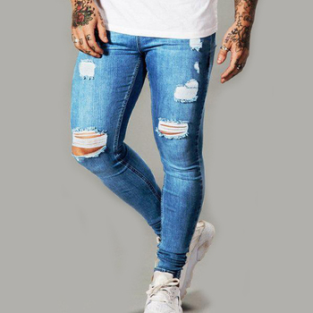 europe fashion skinny jeans mens urban street wear ripped jeans joggers