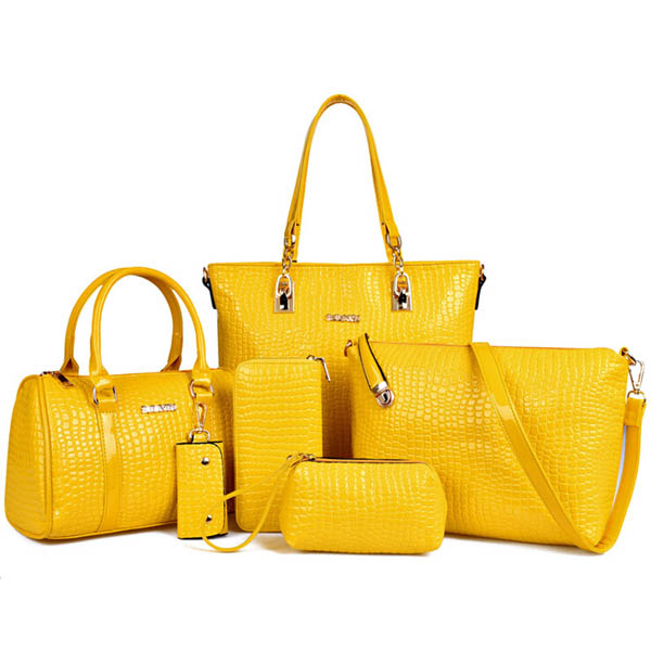 New <strong>designer</strong> best selling 6 pcs in 1 set bags women high quality lady handbag set with wholesale price