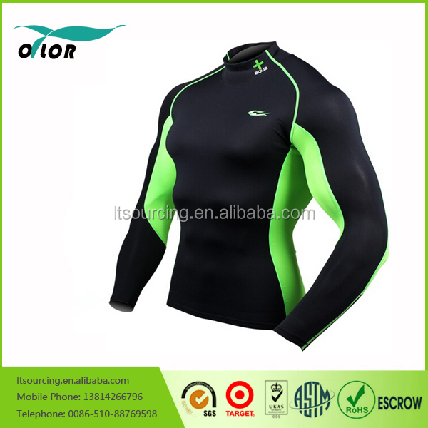 Mens Cycling Thermal Compression Layer Shirt Top Cold Wear