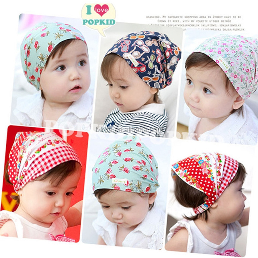 New Europe Fashion Children Baby Girls Cotton Bandana Triangle Head Scarf Headwear
