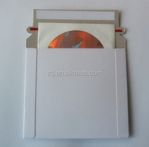 6 x 6 Inch White Cardboard CD/DVD Mailer With Flap & Seal