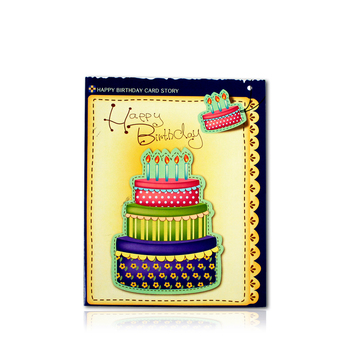 Promotional creative handmade greeting card with music for happy birthday