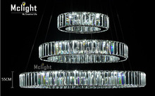 Hot sale 1 Ring 2 Ring 3Rings LED K9 Crystal Chandelier Light Lamp Lustres De Cristal Suspension Modern LED Light Fixture