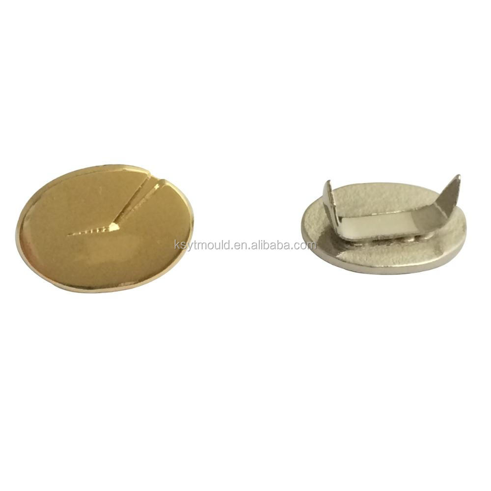 cheap custom metal brass magnetic gold and nickel plate pin badges