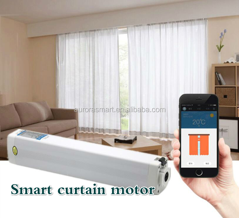 Automatic Curtains Electric Curtain Rod System Dual Track For Remote Control Motorized Curtain