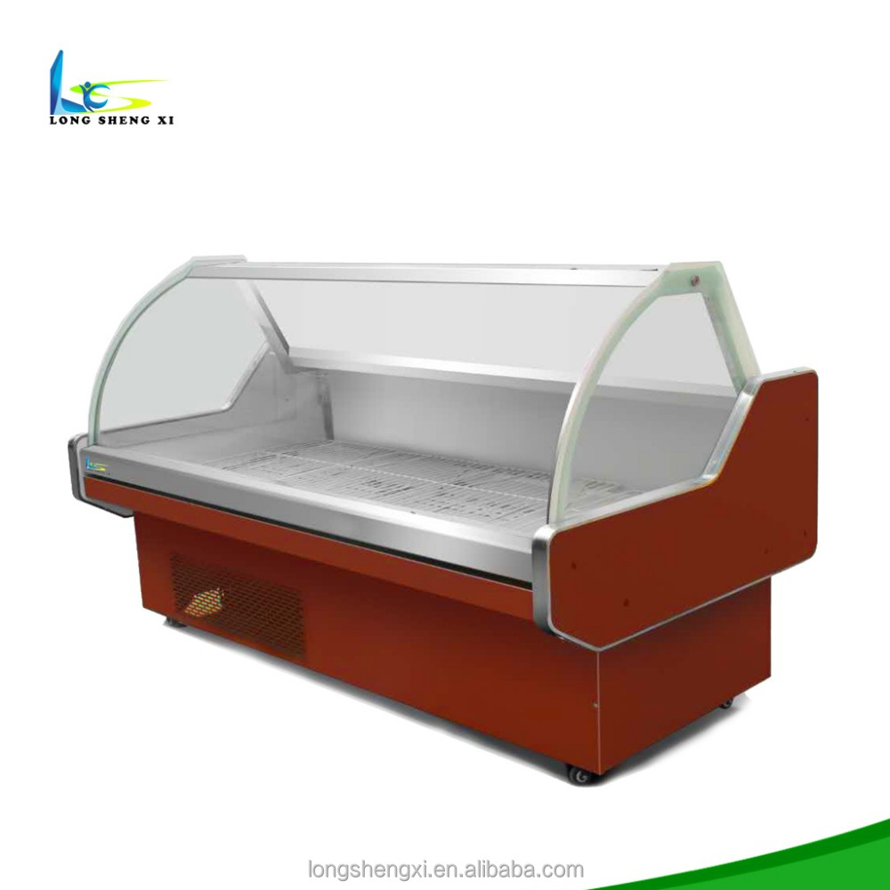 High Quality Supermarket Used Fresh Meat Food Display Counter Chiller Refrigerator