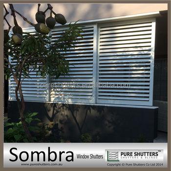 Aluminum sliding plantation interior security window shutters buy security window shutters for Interior window security shutters