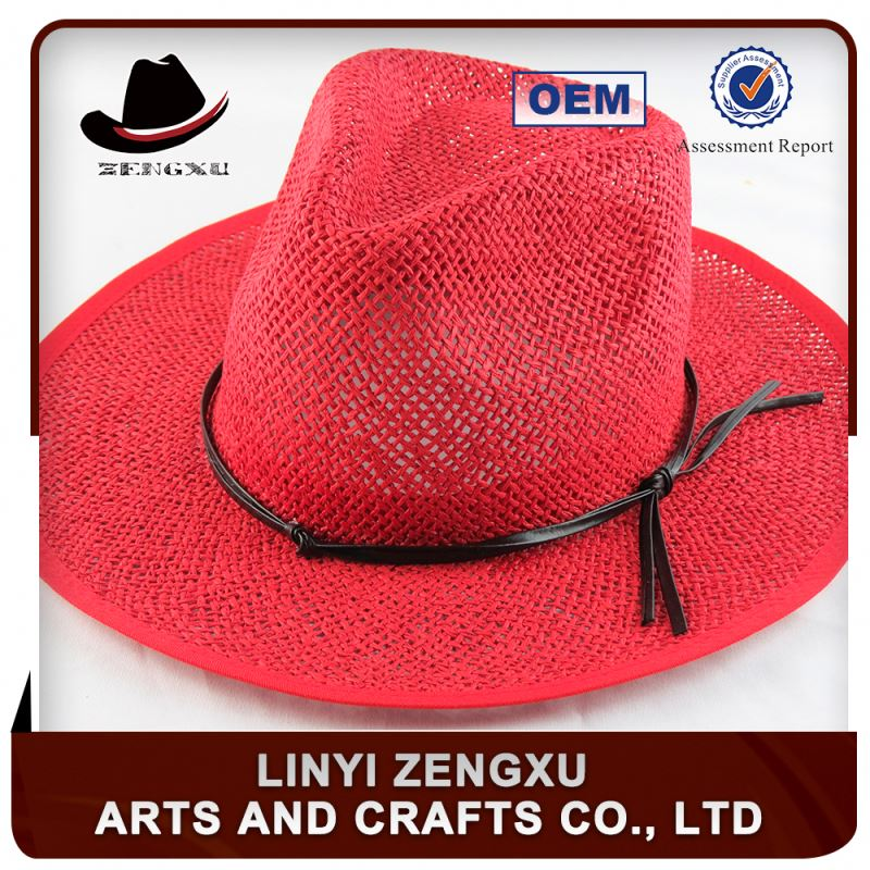 Unisex gender 100% paper straw natural straw panama hat cheap