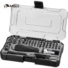55 Pieces home essentials ratchet screwdriver and socket bit set