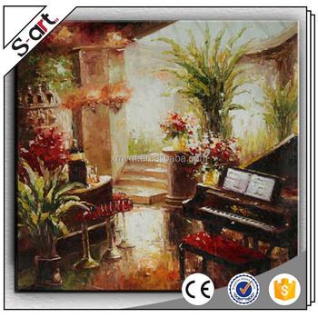 Handbemalt Blume Klavier Xiamen Leinwand ölgemälde Für Moderne Wohnzimmer  Haus Wand Kunst Dekoration