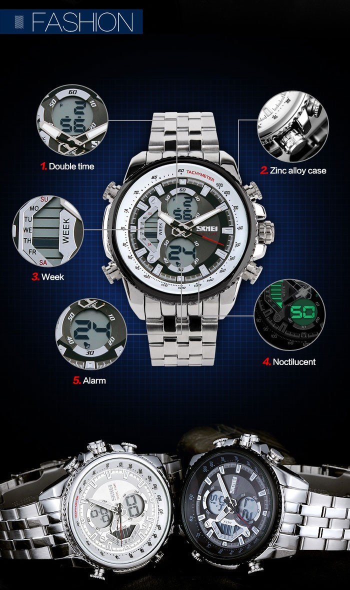 Wrist watches brands for mens - Top Selling Mens Hand Watch Brand Skmei Unique Design Model 0993 With 304 Stainless Steel Chain