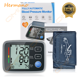 Upper arm blood pressure meter factory price digital blood pressure monitor with large LCD screen