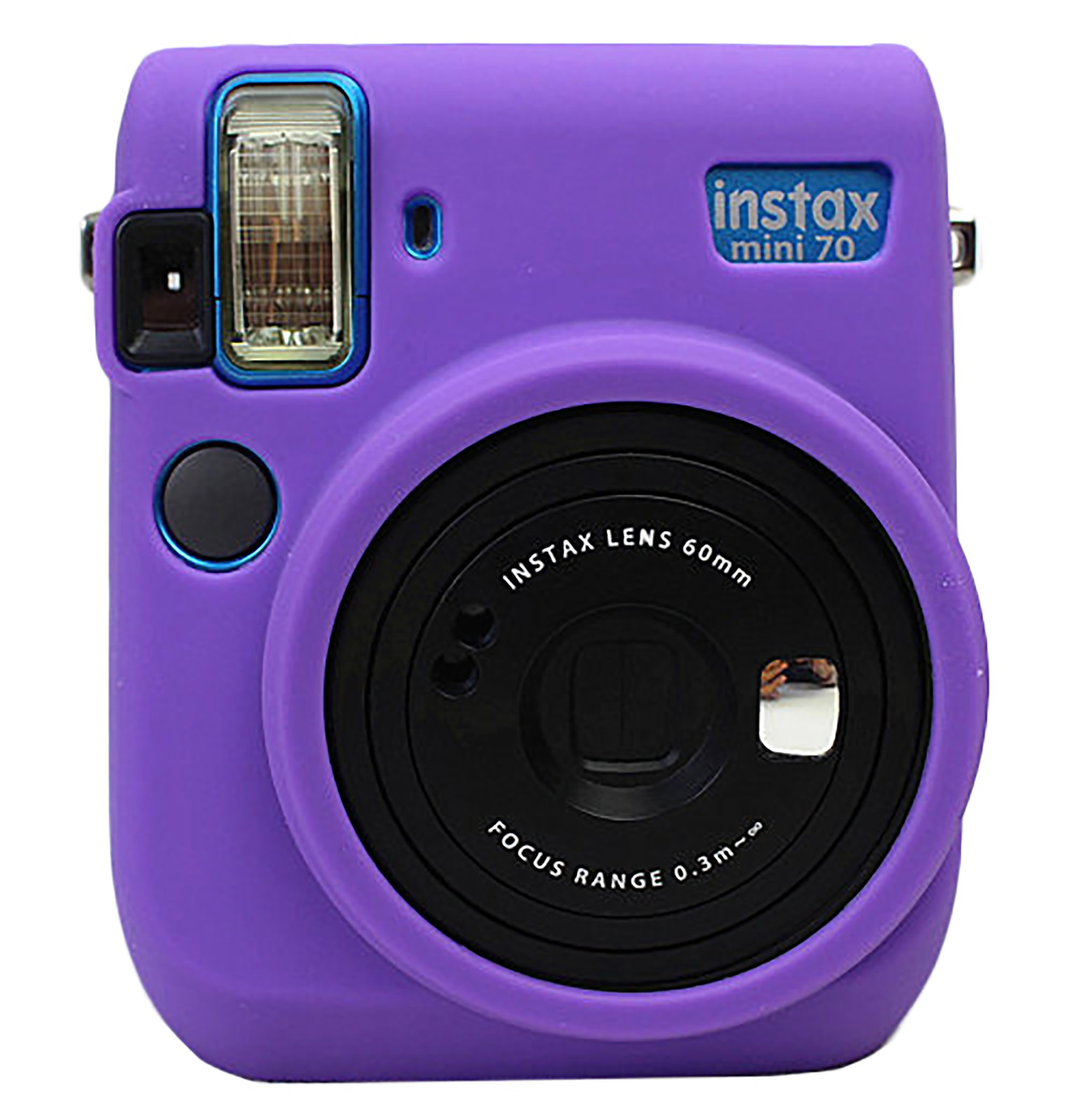 Protective Silicone Gel Rubber Soft Camera Case Cover Bag For Fujifilm Fuji Instax Mini 70 Camera Purple