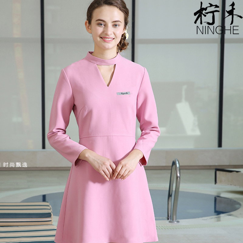 Popular spa uniforms buy cheap spa uniforms lots from for Spa uniform china