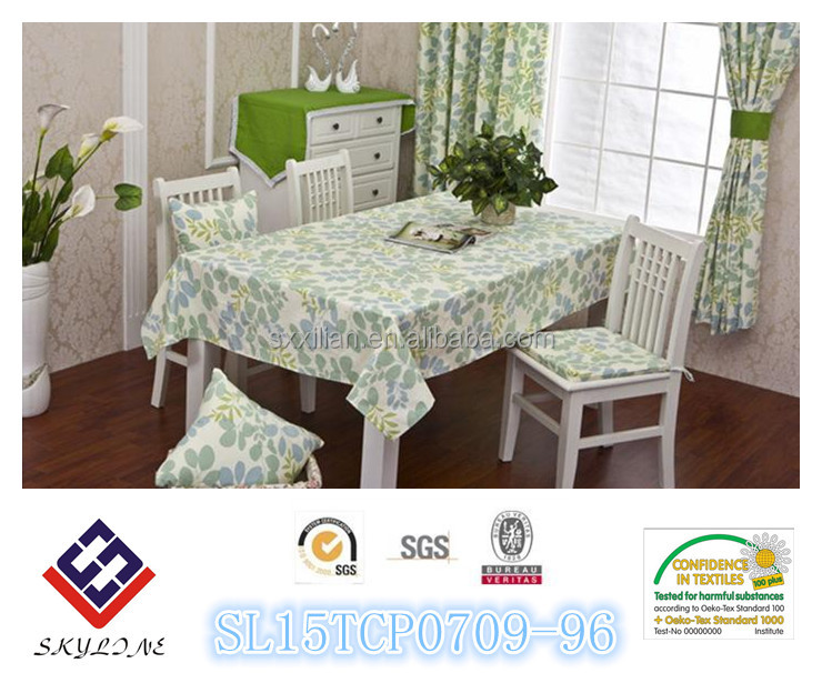 nature cotton fiower printed tablecloth