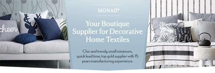 Monad 홈 Decor 장식 현대 Chevron Printed Linen 쿠션 Cover 와 배관