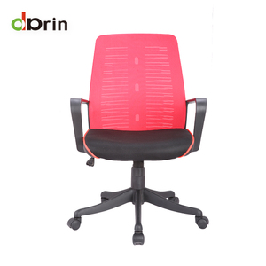 Bright color red mesh back office revolving task chair meeting room training chair