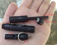 Top Quality ,top1 Aluminum Survival Fire Starter with Whistle Cotton Tungsten steel head