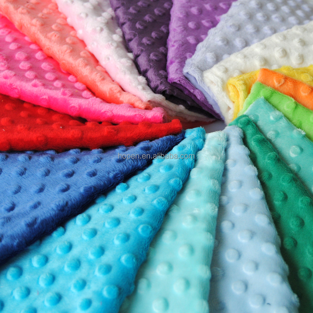 100% polyester cheap price minky dot embossed dimple fabric
