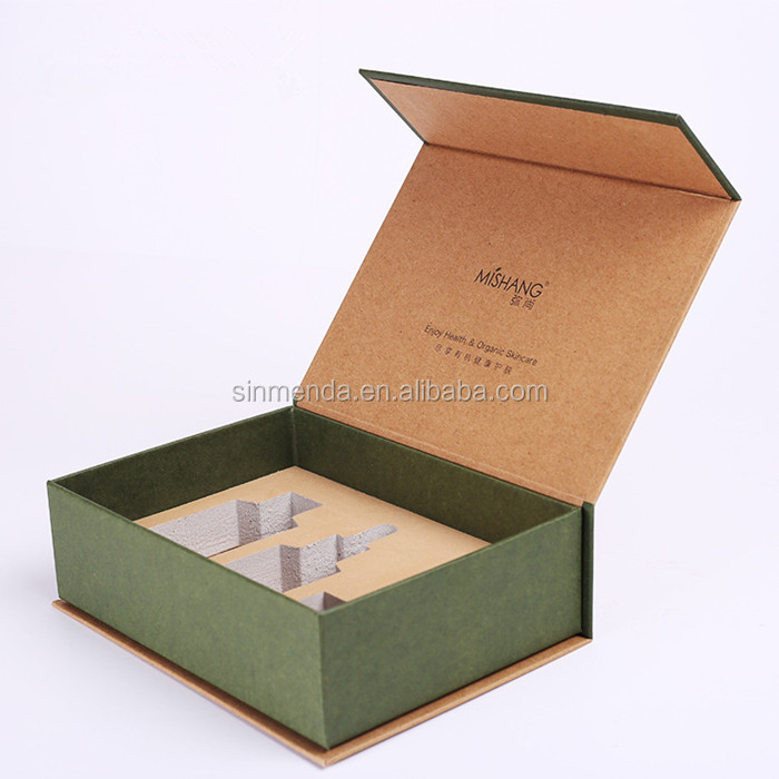 Custom Rigid Luxury Magnetic Closure Kraft Gift <strong>Box</strong> for Cosmetic Set Packaging