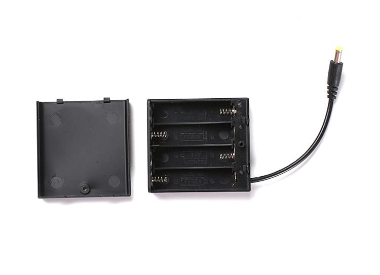 Hohe Qualität 4 Abschnitte 6 V ABS Batteriehalter Mit DC Kopf