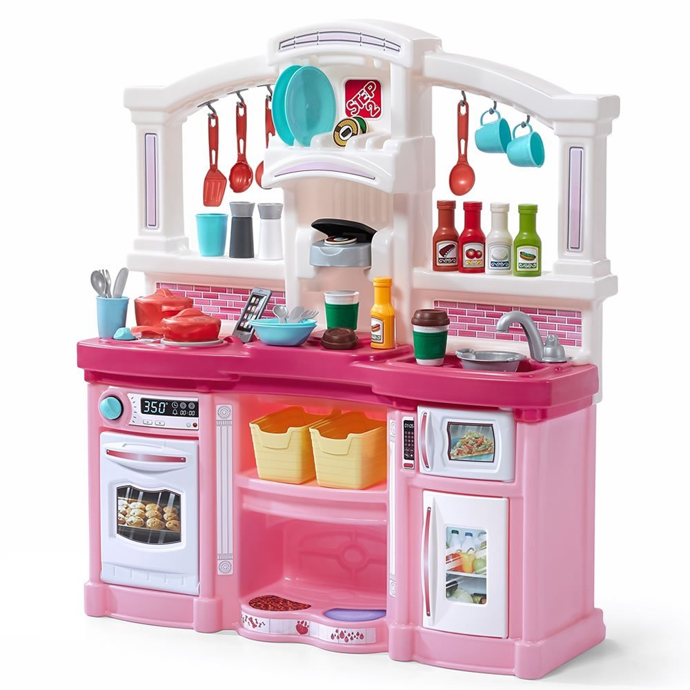 Step2 Fun with Friends Kids Play Kitchen, Pink, Large
