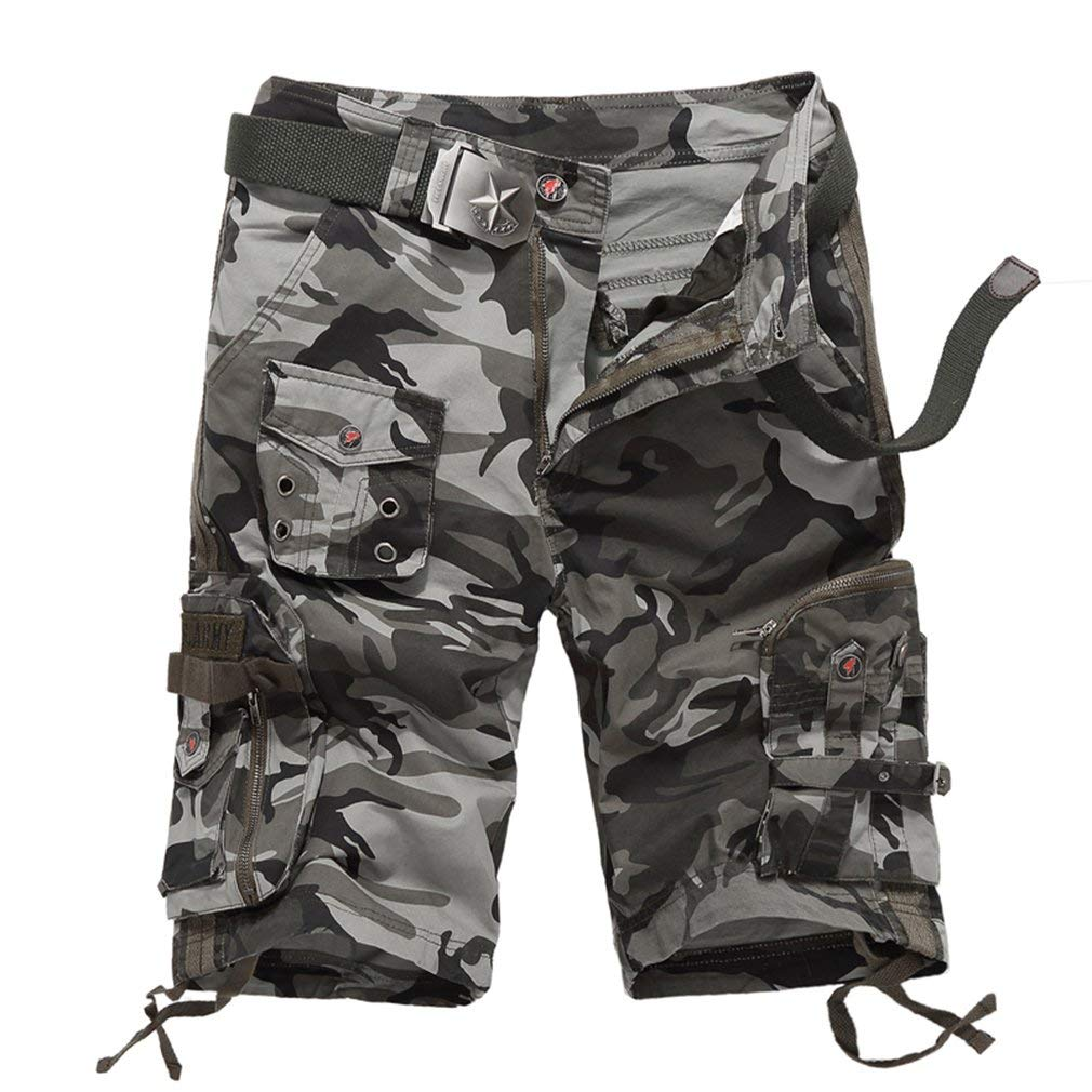 Topway Mens Camo Summer Combat Tactical Multi-pocket Short Pants Cargo Shorts