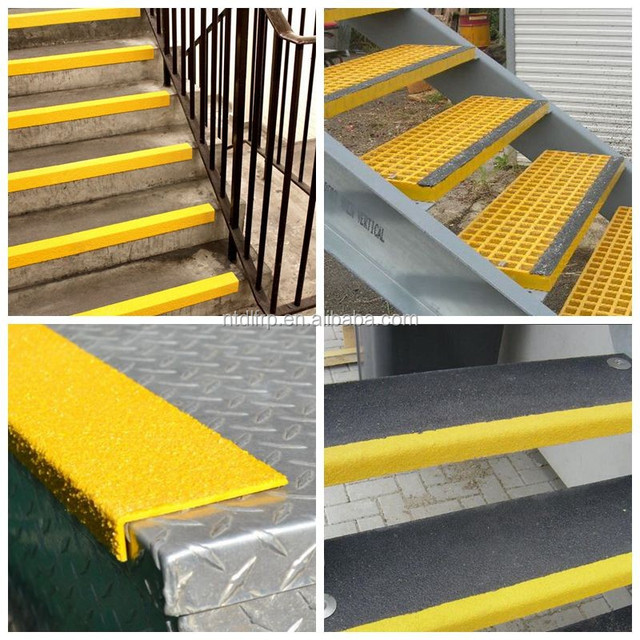 Anti Skid Frp Plastic Outdoor Stair Steps Lowes Nose Covering