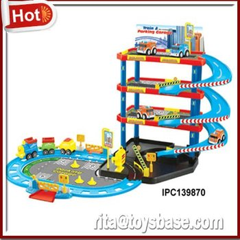 Cartoon Parking Lot Building Toys For Boys