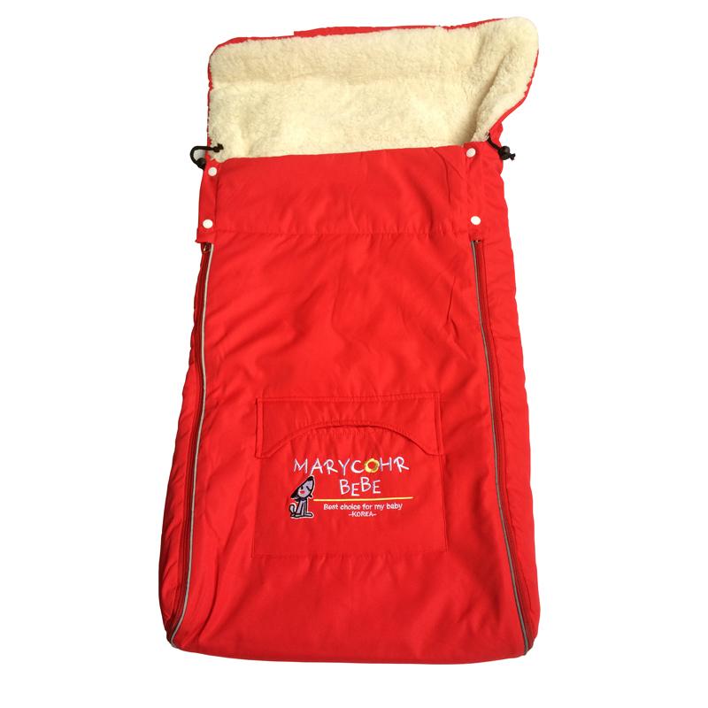 Ребенка спальный мешок для коляски новорожденных конверт спальный мешок зима густой мех линнер Sleepsacks для автомобиля и дети коляска
