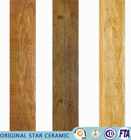 Floor Tiles Design Beige Wooden Tile