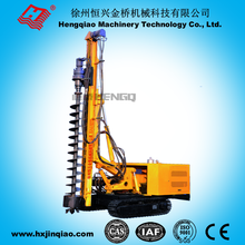 diesel engine with four cylinders hydraulic hammer pile driver used for solar power station installation