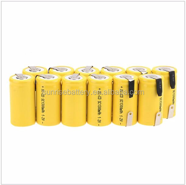 Rechargeable NI CD battery cell SC 1.2V 1300mah 1500mah 1.2V SC 2000mah Battery pack