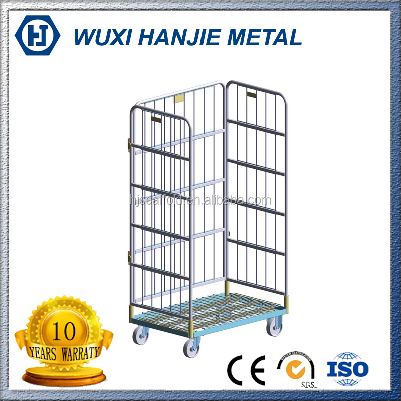 Hot Sales product supermarket roll cages/Storage cage cart/Steel wire mesh containers(HJ-RC267)