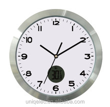 Aluminium weather wall clock with customers logo