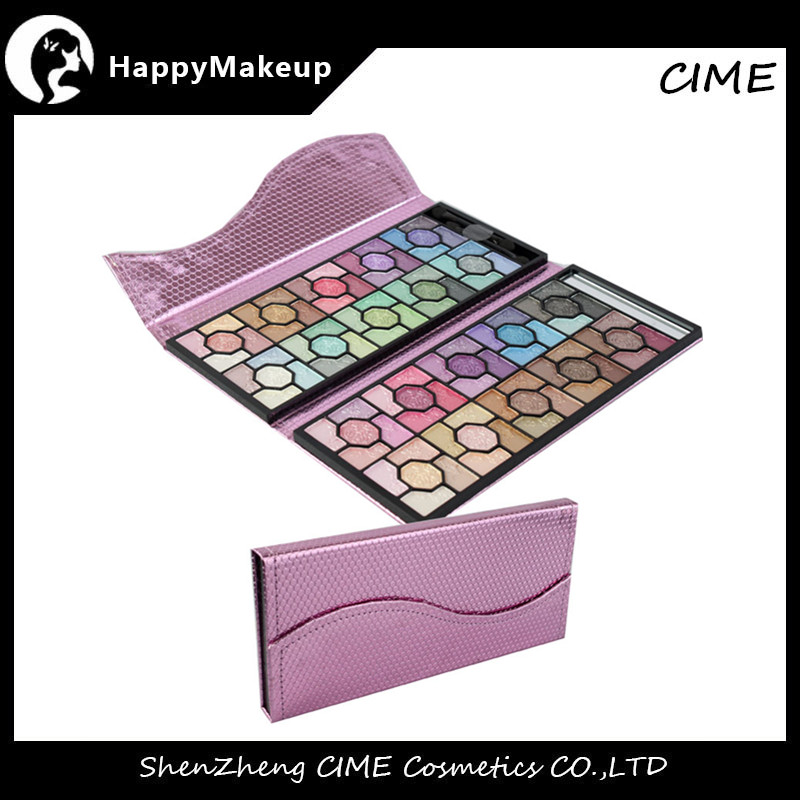100 Color Flower Glitter Makeup Eyeshadow Palette with Luxury PinK Case
