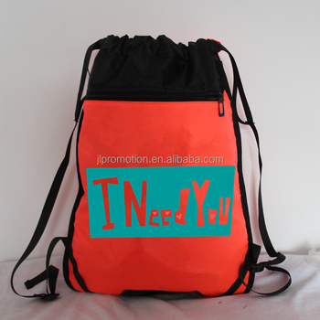 39a99831d2 colorful promotional waterproof draw pull string cute drawstring backpack  bag supplier in China