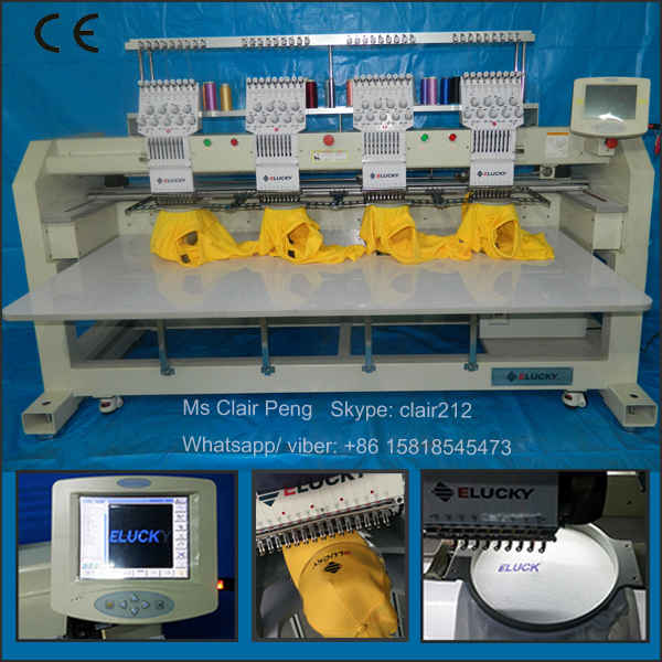 Used Embroidery Machines For Sale >> 1204c Four Head Used Embroidery Machine Brother Tubular Embroidery Machine View Four Head Embroidery Machine Elucky Product Details From Shenzhen