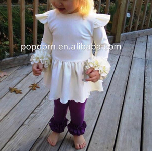 cute pure color girls fall boutique clothing baby boutique wholesale children's clothing sets 2018