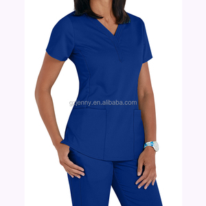 Wholesale Custom Short Sleeve V-neck Scrubs Uniforms Medical Uniform Scrubs Top