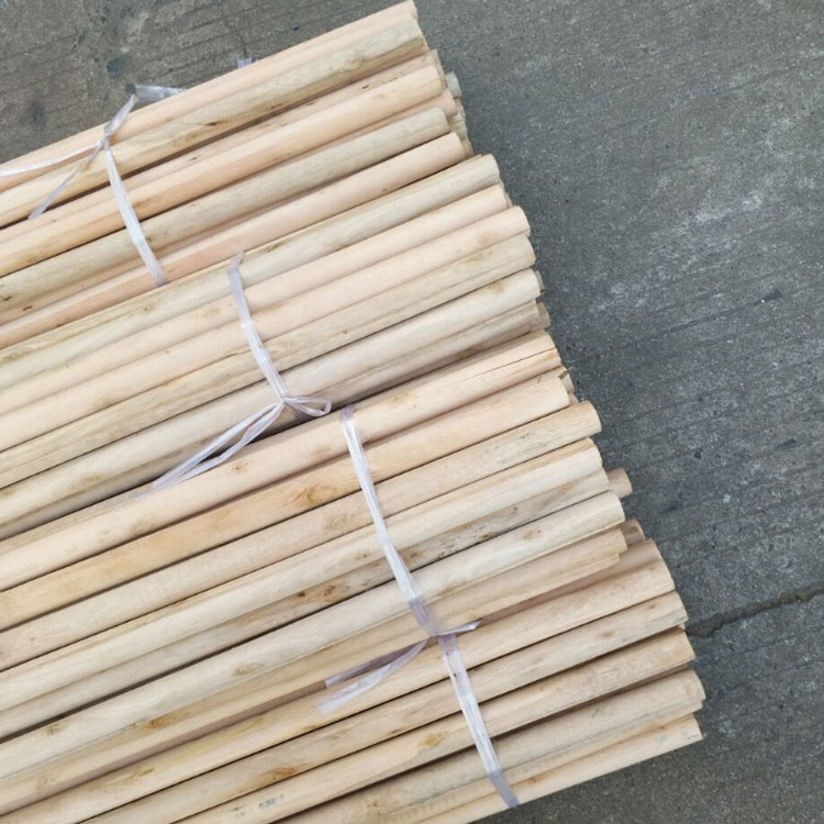 High Quality Natural Wooden Broom Stick 3