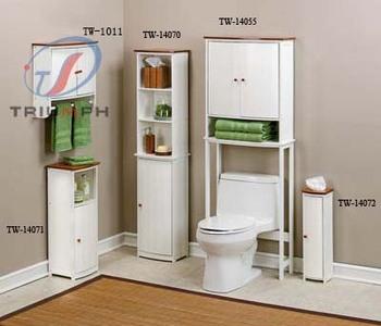 White Finish Wooden Bathroom Furniture Sets - Buy Bathroom