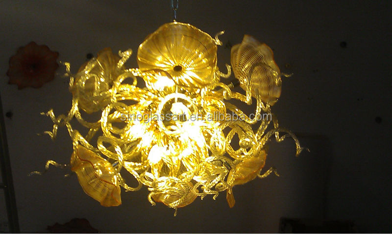 Orange colour imaginative Art Glass LED Lighting