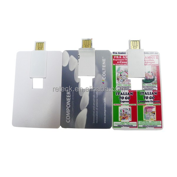 promotional full color printing business card wafer card usb flash drive