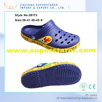 9c9613de57e4c Eva Holey Kids Garden Clogs Paste Side Binding Eva Clogs Shoes ...