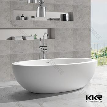 Anese Soaking Tub Solid Surface Freestanding Bathtub
