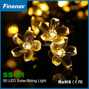 warm white solar christmas star light decoration outfit led string lights